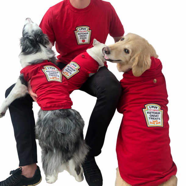 Camiseta Unissex Ketchup - Adulto - Vermelha