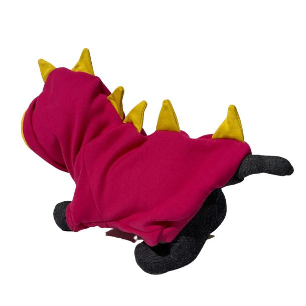 Moletom Dinossauro Pink / Amarelo