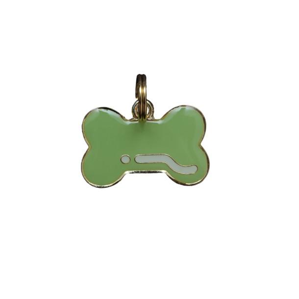 Pingente Osso Verde - Woof Classic - Gravado