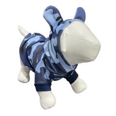 Moletom Camuflado para cachorro e gato - Azul Marinho
