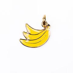 Pingente - Banana amarela - Woof Pet - gravado
