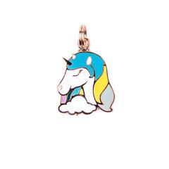 Pingente Unicórnio Azul - Woof Pet - Gravado