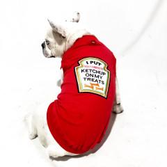 Roupa Pet Ketchup Vermelha