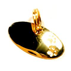 Pingente Oval Dourado Patinhas - Dog & Design - Já gravado