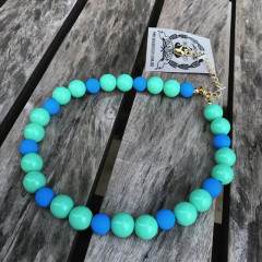 """Blue & Green"" Pet Necklace"