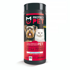 Toalhas Umedecidas Protect Pet (35 Unid) - Supply Wipes