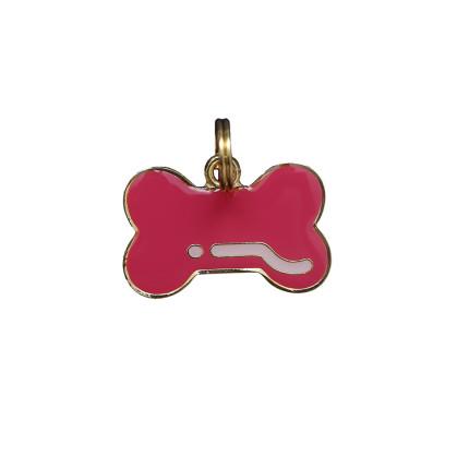 Pingente Osso Pink - Woof Classic - Gravado